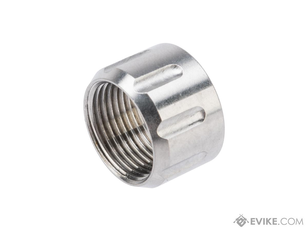 Dynamic Precision CNC Machined Aluminum 14mm Negative Thread Protector (Model: Type A / Silver)