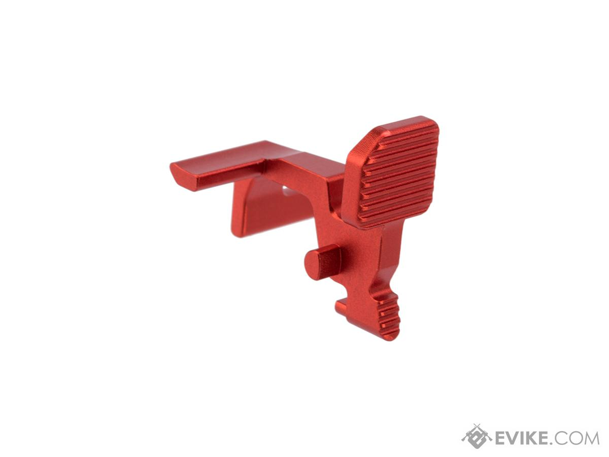 Dynamic Precision Aluminum Lightweight Bolt Catch for TM M4A1 MWS Gas Blowback Airsoft Rifle (Model: Type A / Red)