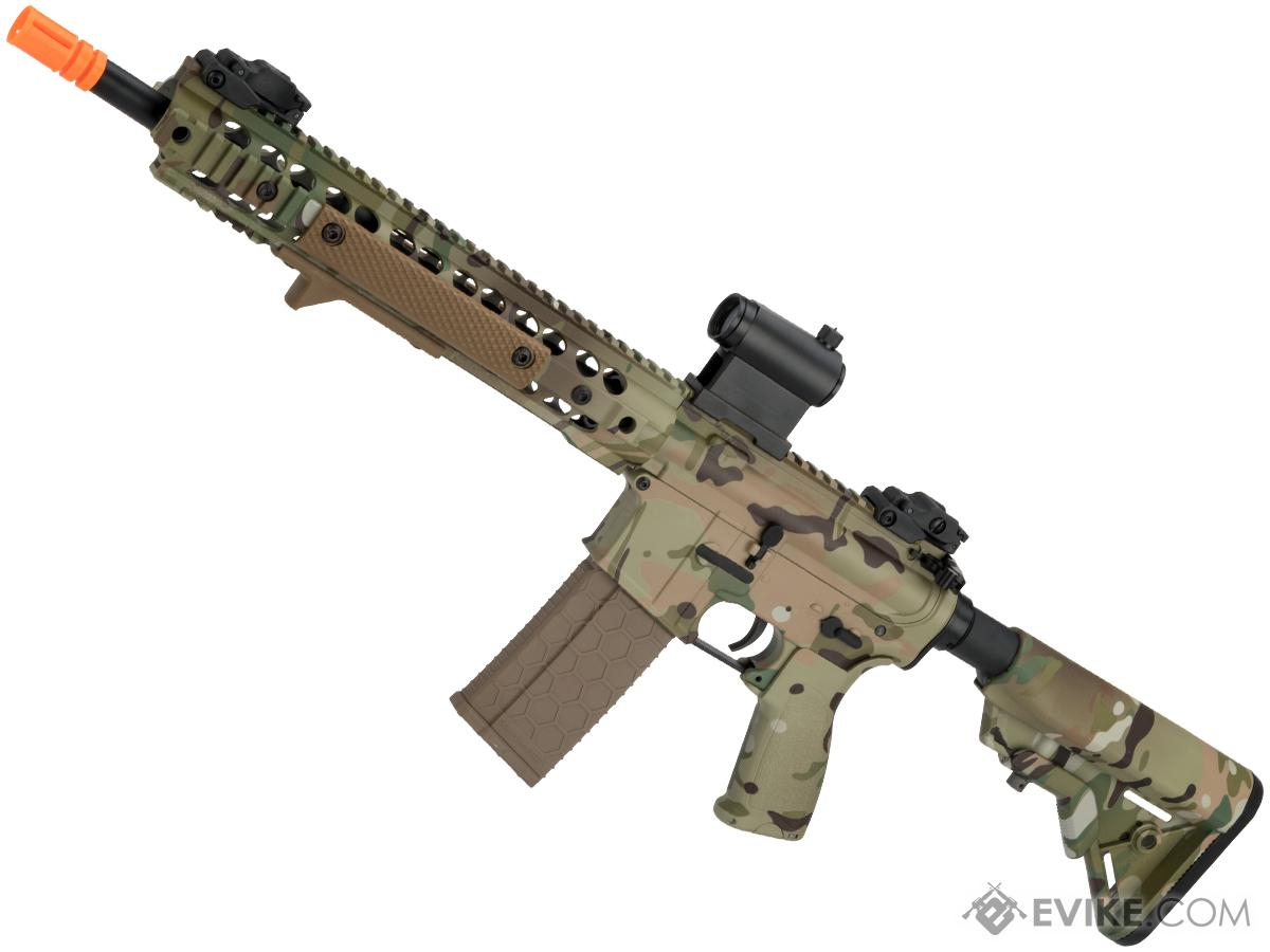DYTAC Custom Full Metal M4 RIS Airsoft AEG Rifle with Multicam Water Transfer Finish