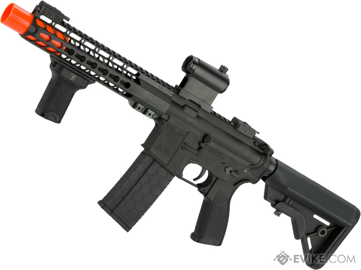 DYTAC SLR Solo Lite SLR15 PDW Airsoft AEG with Linear Compensator (Color: Black Cerakote)