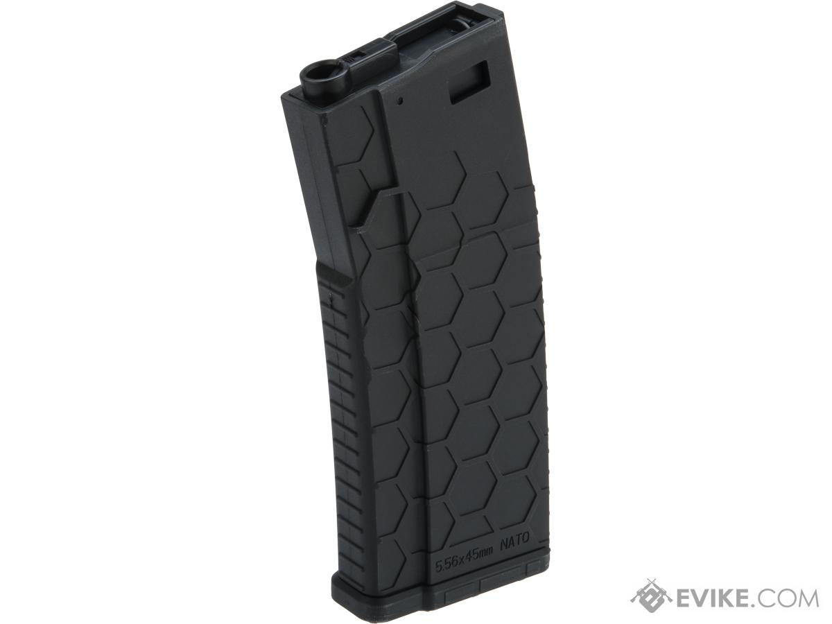 Hexmag Airsoft Polymer 300rd FlashMag Magazine for M4 / M16 Series Airsoft AEG Rifles (Color: Black / Single)