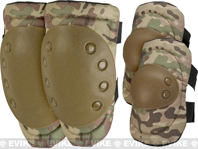Avengers Special Operation Tactical QD Knee Pad / Elbow Pad Set (Color: Camo)