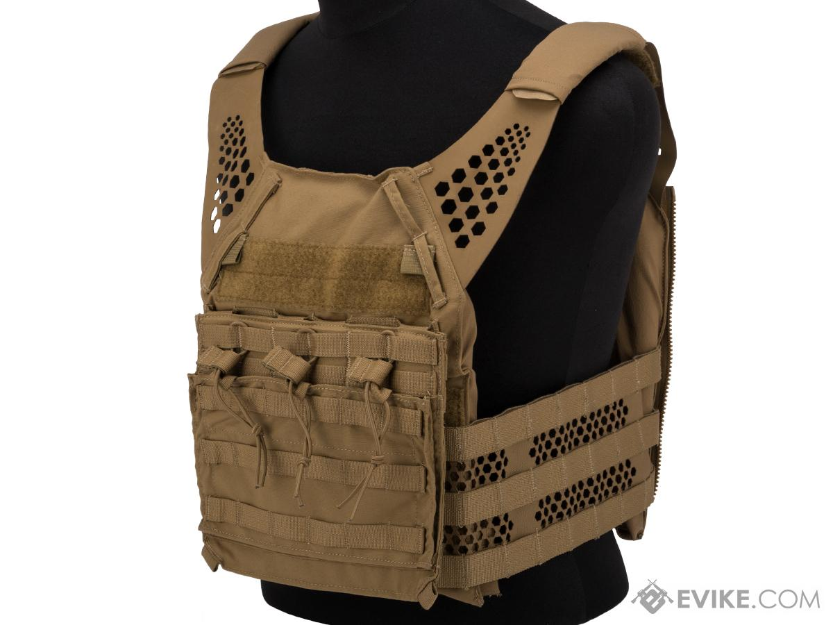 Eagle Industries Tactical Ultra Low-Vis Plate Carrier w/ Removable Front Flap (Color: Coyote Brown / Medium)