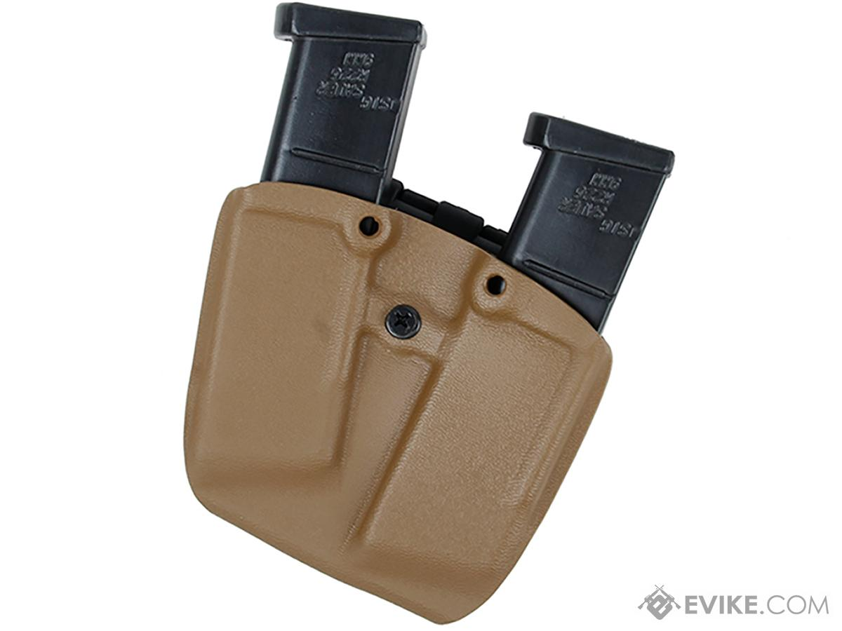 TMC Kydex Mag Pouch for 1911 Style Single Stack Magazines (Capacity: Two Magazines / Coyote)
