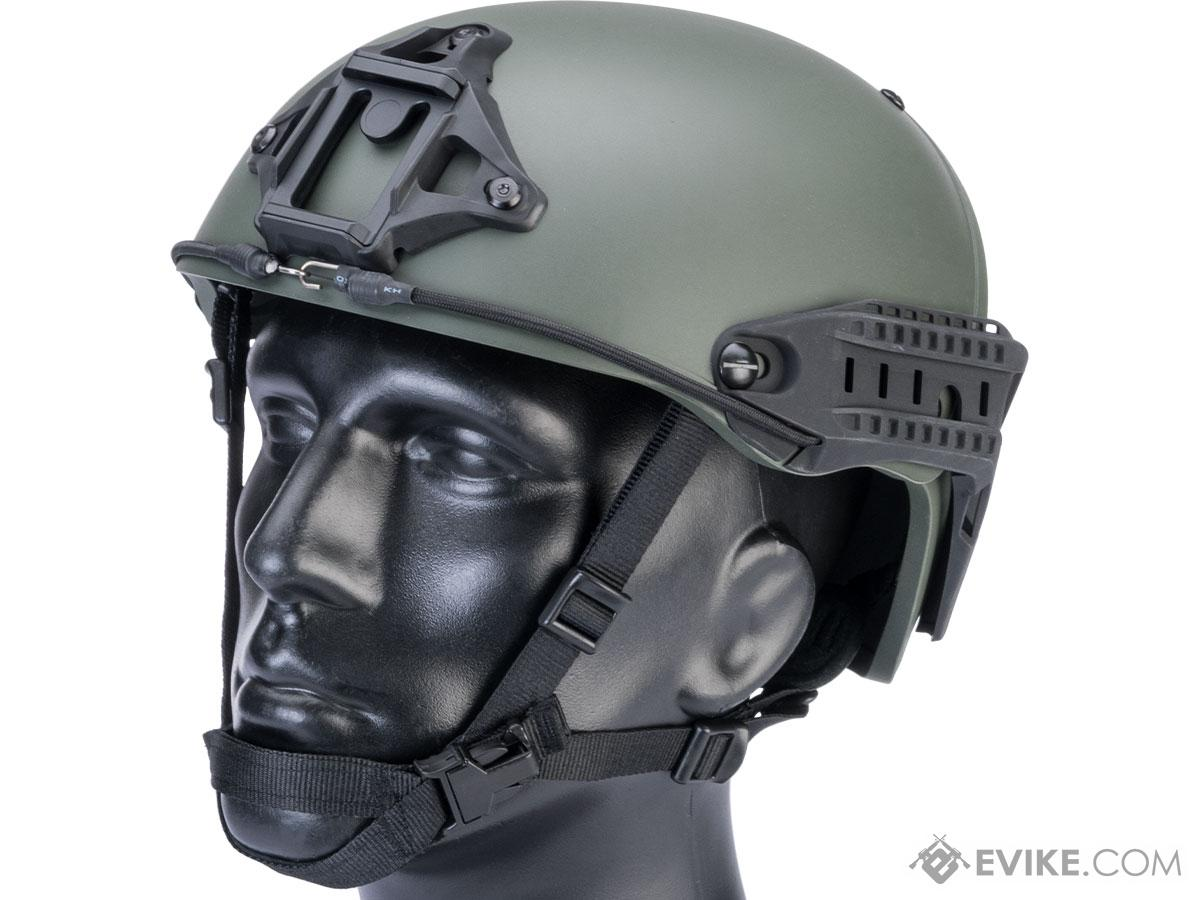 TMC Deluxe Version Air Flow Bump Style Airsoft Helmet (Color: Ranger Green / Medium)