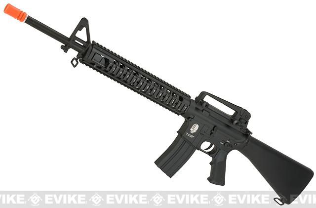 E&C Airsoft Special Purpose Rifle Full Metal Airsoft AEG Rifle - Black