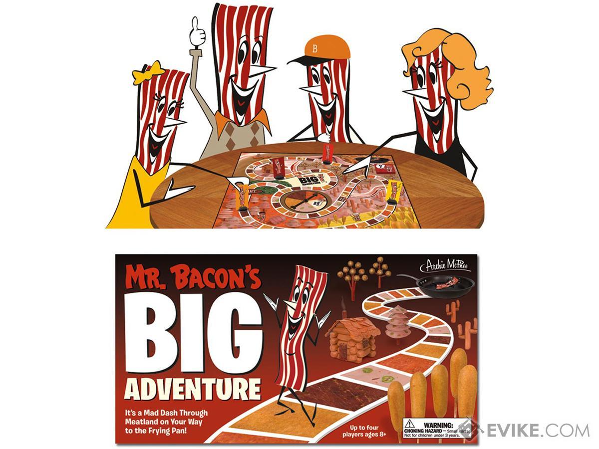 Archie McPhee Mr. Bacon's Big Adventure Board Game