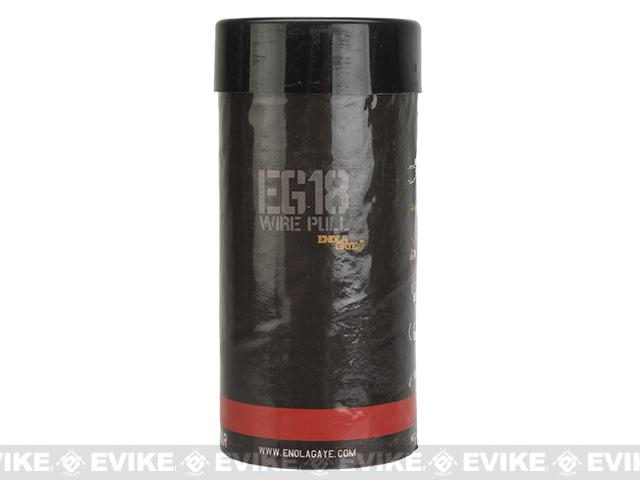 Enola Gaye EG18 High Output Airsoft Wire Pull Large Smoke Grenade (Color: Red)