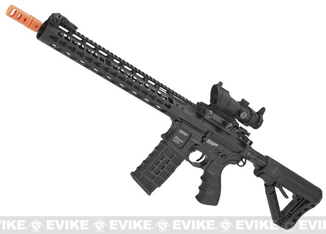 G&G GC16 Wild Hog Full Metal Airsoft AEG Rifle with 13.5 Keymod Rail - (Package: Add 9.6 Butterfly Battery + Smart Charger)