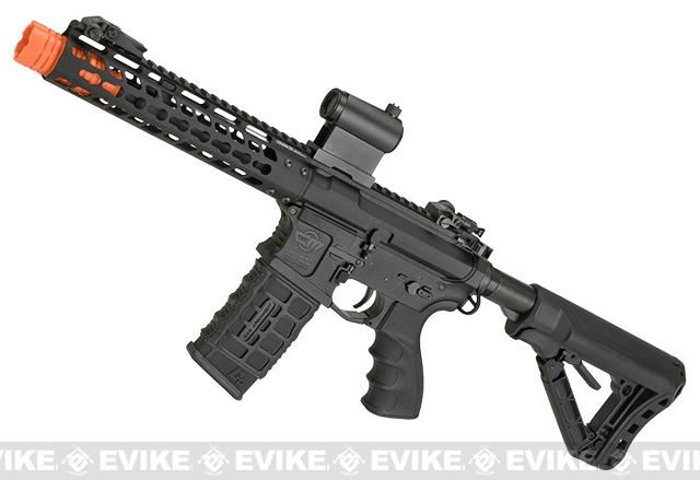 Pre-Order ETA April 2018 G&G CM16 Wild Hog Polymer Airsoft AEG Rifle with 9 Keymod Rail - Black (Package: Gun Only)