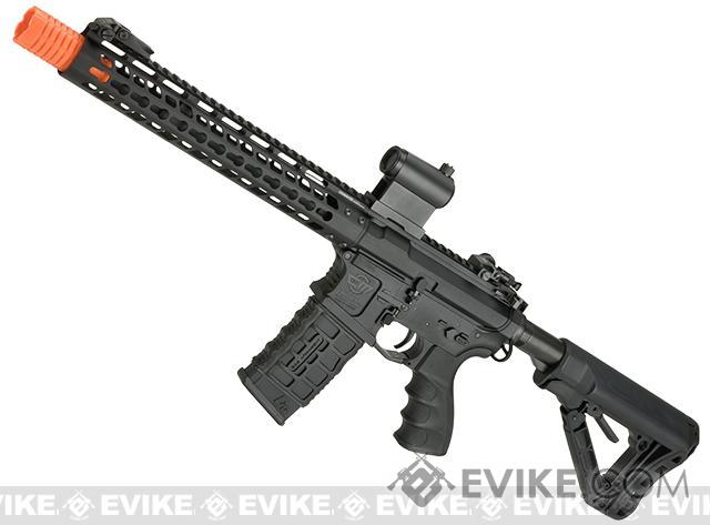 G&G GC16 Wild Hog Polymer Airsoft AEG Rifle with 12 Keymod Rail - Black (Package: Gun Only)