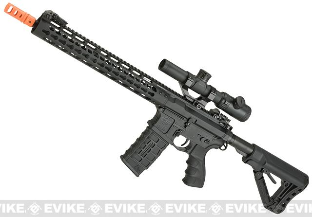 G&G CM16 Wild Hog Polymer Airsoft AEG Rifle with 13.5 Keymod Rail (Package: Add 9.6 Butterfly Battery + Smart Charger)