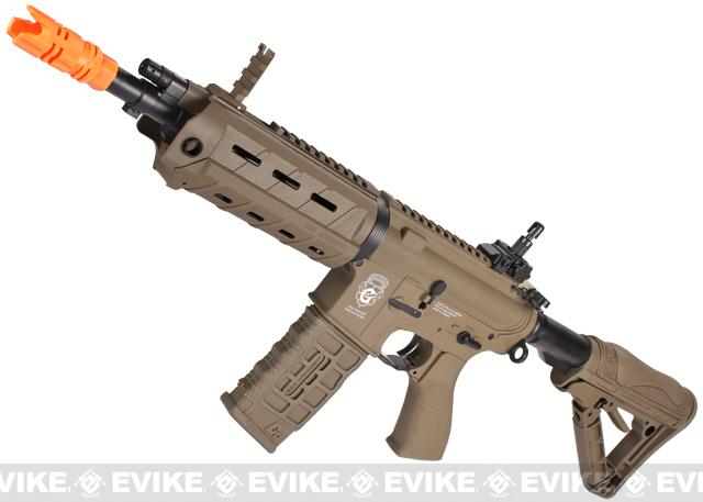G&G Blowback GR4 G26 Airsoft AEG Rifle with Built-in Laser and LED Tac Light - Tan