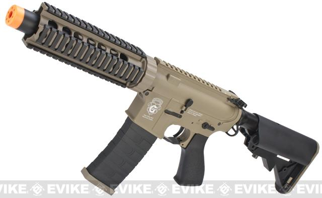 G&G CQB-S MINI Airsoft Electric Blowback AEG Rifle (Package: Tan / Add 9.6 Butterfly Battery + Smart Charger)