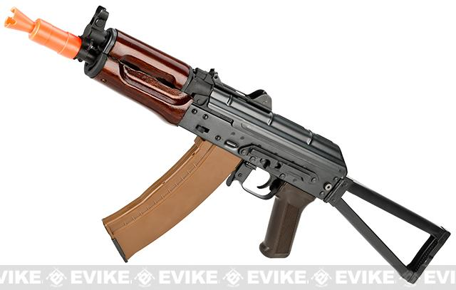 z E&L Airsoft AK-74U A104 Gen. 2 Full Metal AEG Rifle w/ Real Wood Handguard & Steel Folding Stock
