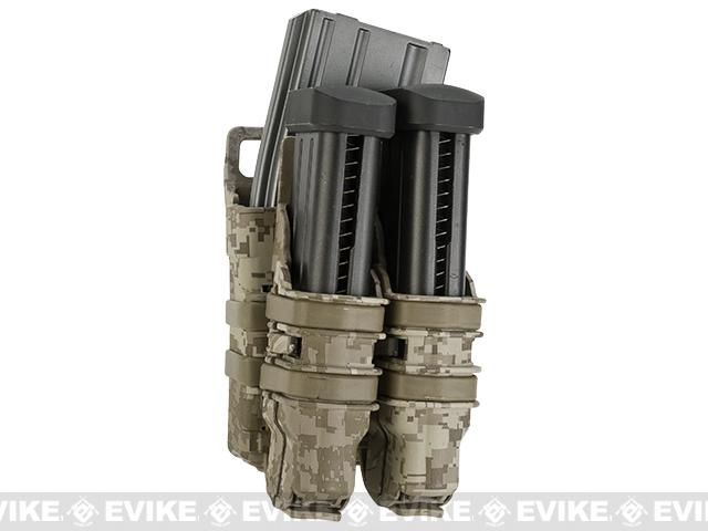 Avengers Fast Hard Shell Magazine Holster - 1x Rifle 2x Pistol Configuration (Digital Desert)