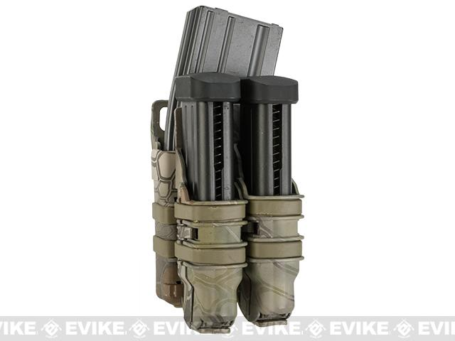 Avengers Fast Hard Shell Magazine Holster - 1x Rifle 2x Pistol Configuration (Woodland Serpent)