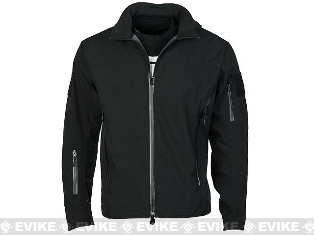 Emerson Outdoor Tactical Lightweight Softshell Jacket - Black (Size: Small)