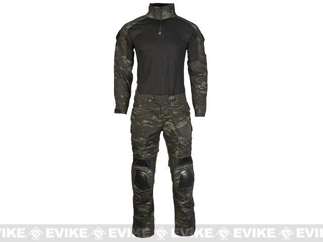 Emerson Combat Uniform Set - Multicam Black (Size: Medium)
