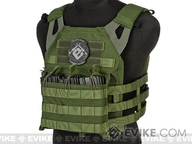 Avengers Compact Airsoft High Speed JPC Plate Carrier (Color: OD Green / Adult)
