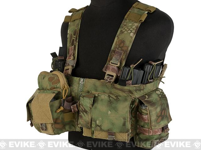 Emerson Split Front Chest Rig w/ Pouches  - Woodland Serpent