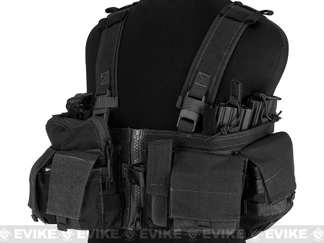 Emerson Split Front Chest Rig w/ Pouches  - Black