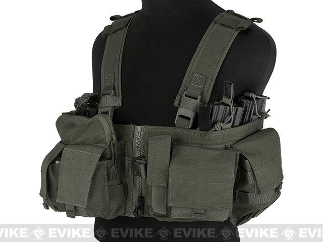 Emerson Split Front Chest Rig w/ Pouches  - Foliage