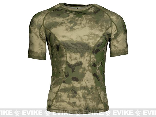 Emerson Skin-tight Base Layer Camo Outdoor Sports Running Shirt - Arid Foliage (Size: Medium)