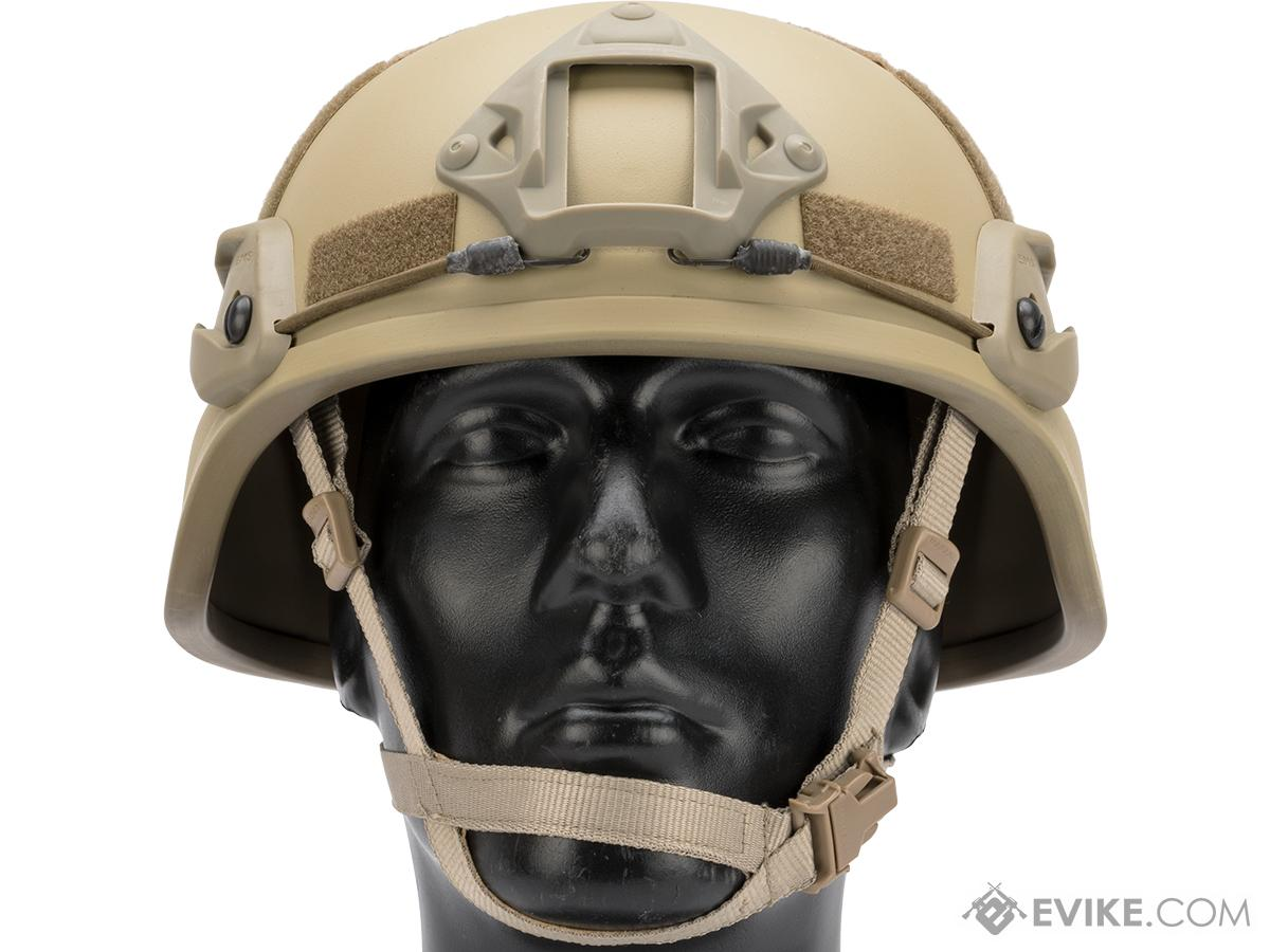 6358609b Emerson MICH 2000 Helmet with NVG Mount & Side Rail (Color: Tan ...