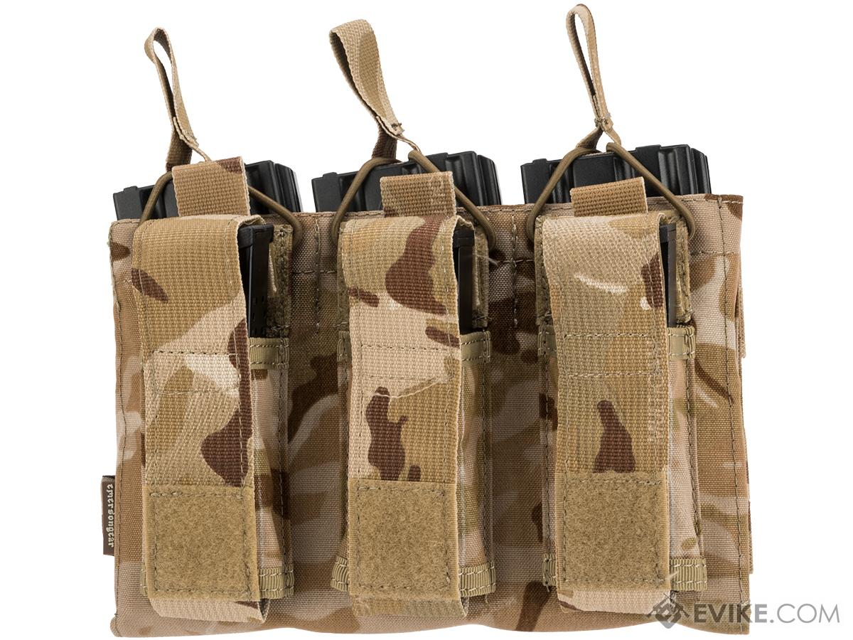 Emerson Gear M4 / M16 / 5.56 NATO Triple Open Top Magazine Pouch w/ 3 Pistol Mag Pouches (Color: Multicam Arid)