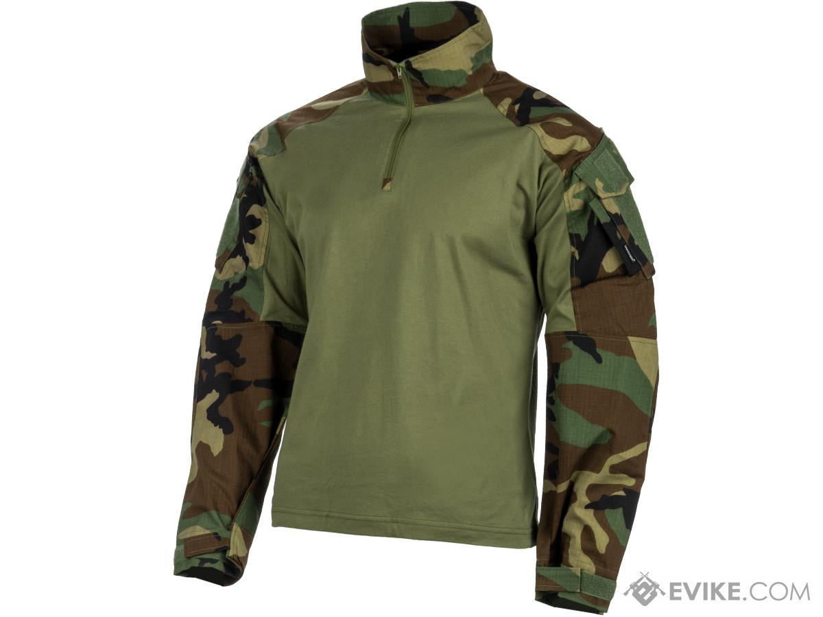 EmersonGear 1/4 Zip Tactical Combat Shirt (Color: Woodland / Medium)