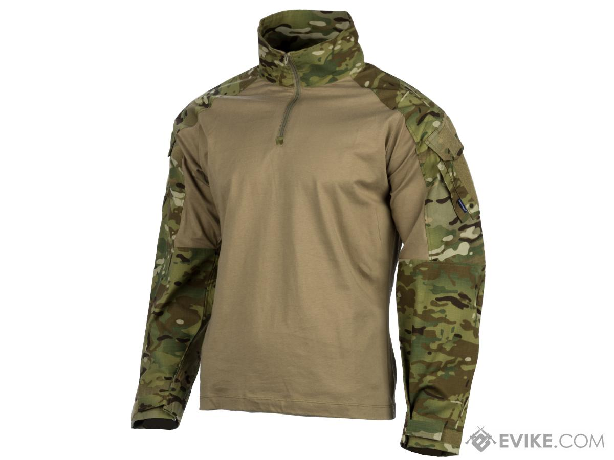 EmersonGear Blue Label 1/4 Zip Tactical Combat Shirt (Color: Multicam / Large)