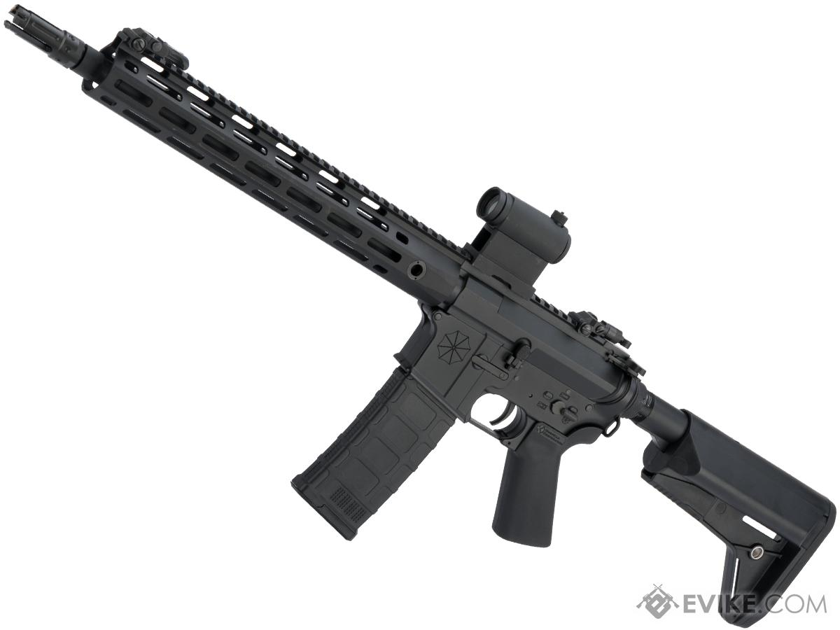 Helios Umbrella Corporation Weapons Research Group Licensed M4 M-LOK Airsoft AEG Rifle (Color: Black / Carbine)