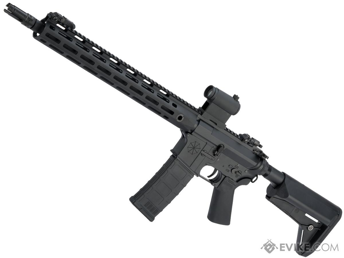 Helios Umbrella Corporation Weapons Research Group Licensed M4 M-LOK Airsoft AEG Rifle (Color: Black / Rifle)