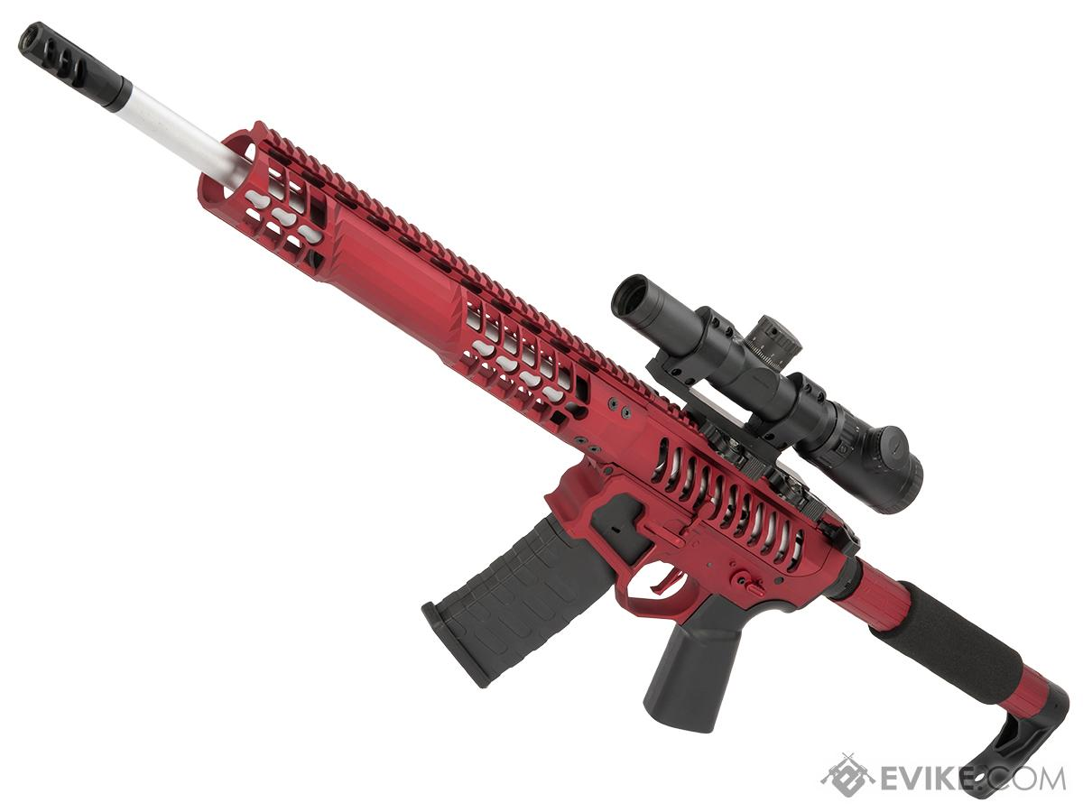 EMG F-1 Firearms BDR-15 3G AR15 2.0 eSilverEdge Full Metal Airsoft AEG Training Rifle (Model: Red / Tron / 350 FPS)