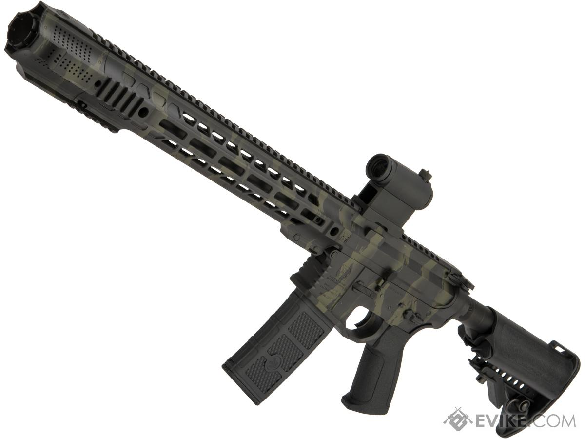 Pre-Order ETA October 2019 EMG / SAI GRY AR-15 AEG Training Rifle w/ JailBrake Muzzle w/ Black Sheep Arms Custom Cerakote (Model: Carbine / Tiger Stripe Camo w/ Fade)