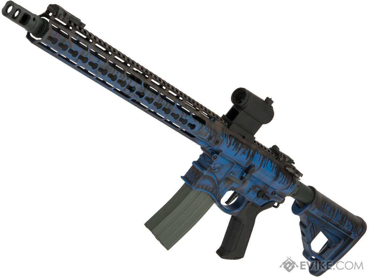EMG / Sharps Bros Hellbreaker Licensed Advanced M4 Airsoft AEG w/ Black Sheep Arms Custom Cerakote (Model: 15 Carbine / Blue Sludge)
