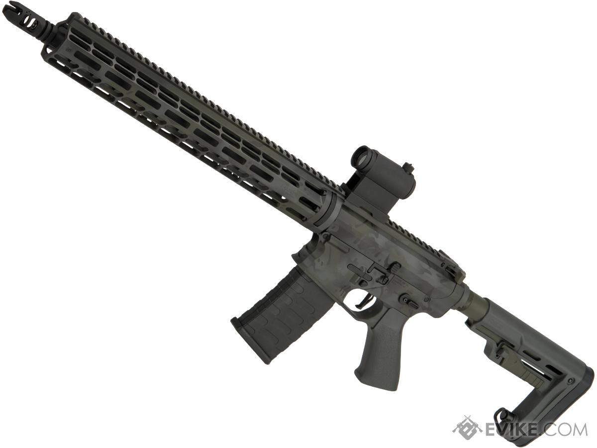 EMG Custom Cerakote Falkor AR-15 RECCE Training Weapon M4 Airsoft AEG Rifle (Color: Green Northern Lights)