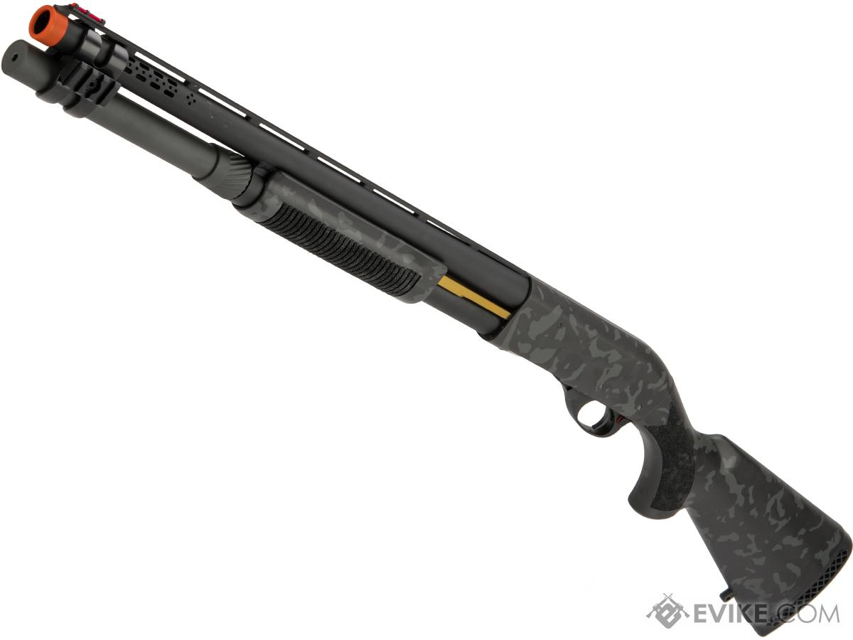Pre-Order ETA February 2019 EMG / Salient Arms Licensed M870 MKII Airsoft Training Shotgun w/ Black Sheep Arms Custom Cerakote (Color: Hidden Black Camo)