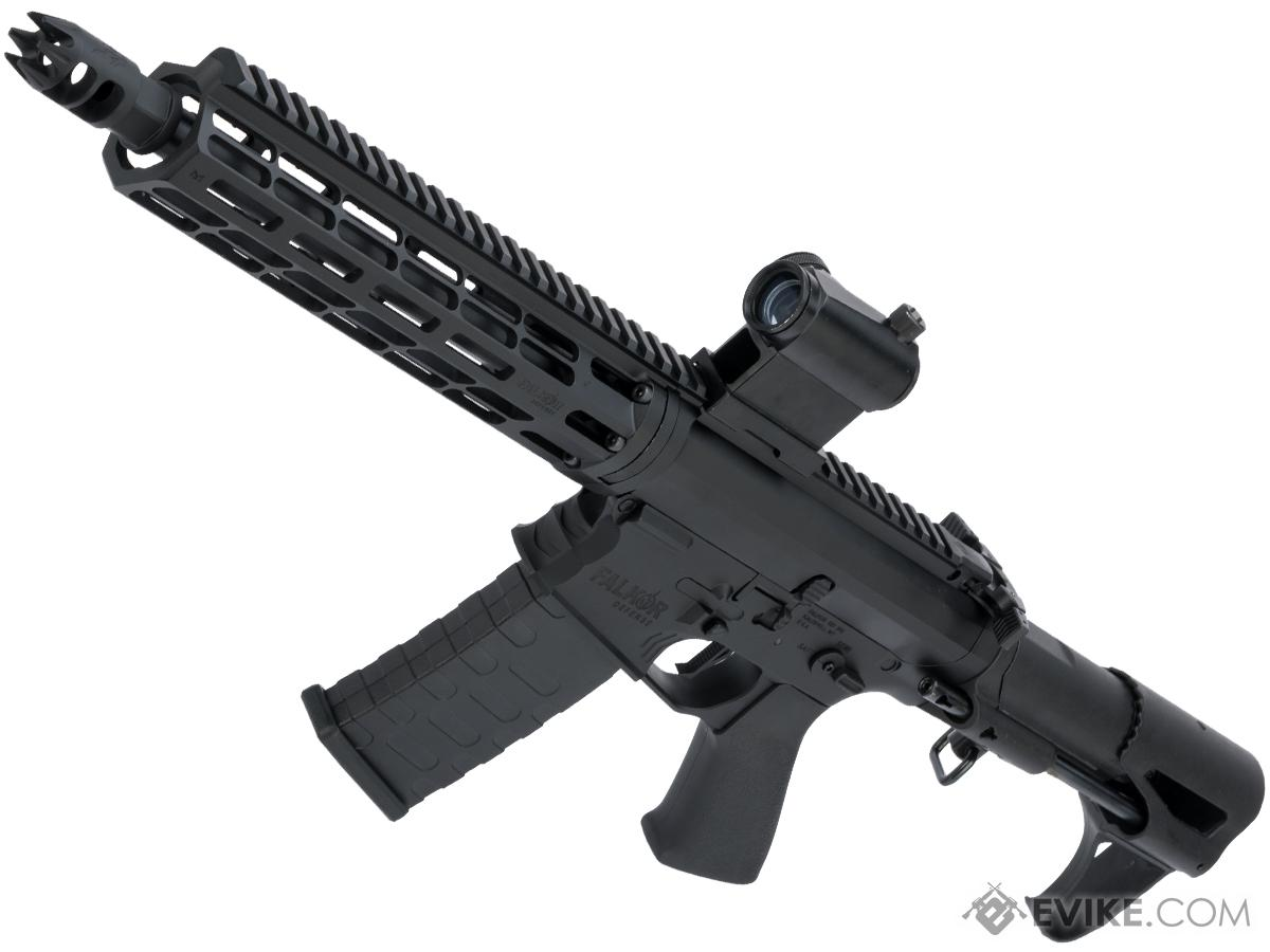 EMG Falkor Blitz Compact M4 w/ eSilverEdge Gearbox Airsoft AEG Training Rifle (Color: Black / CRS Stock / 350 FPS)