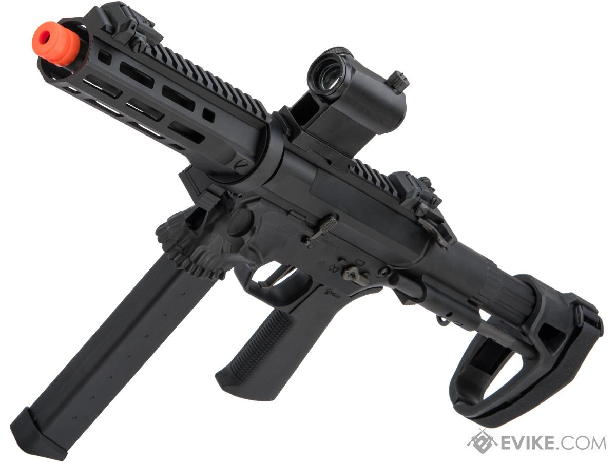 EMG / Sharps Bros Licensed Jack9 Metal Receiver Advanced EFCS Pistol Caliber Carbine Airsoft AEG (Model: M-LOK / SBR / Black)