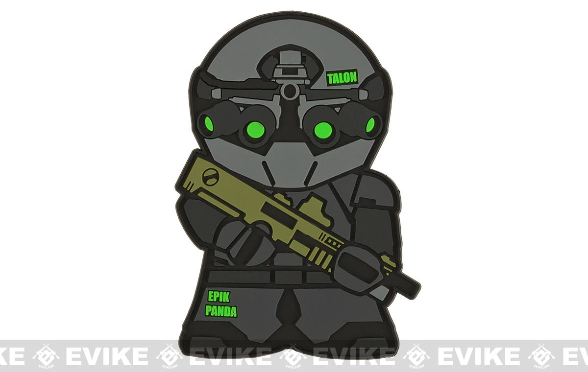 Epik Panda Black Talon Panda PVC Rubber Hook and Loop Morale Patch