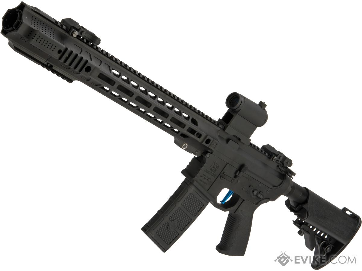 Pre-Order ETA June 2019 Evike Performance Shop Custom EMG / SAI GRY AR-15 AEG Training Rifle (Configuration: Carbine / Black / Black Export Furniture / 365 FPS)