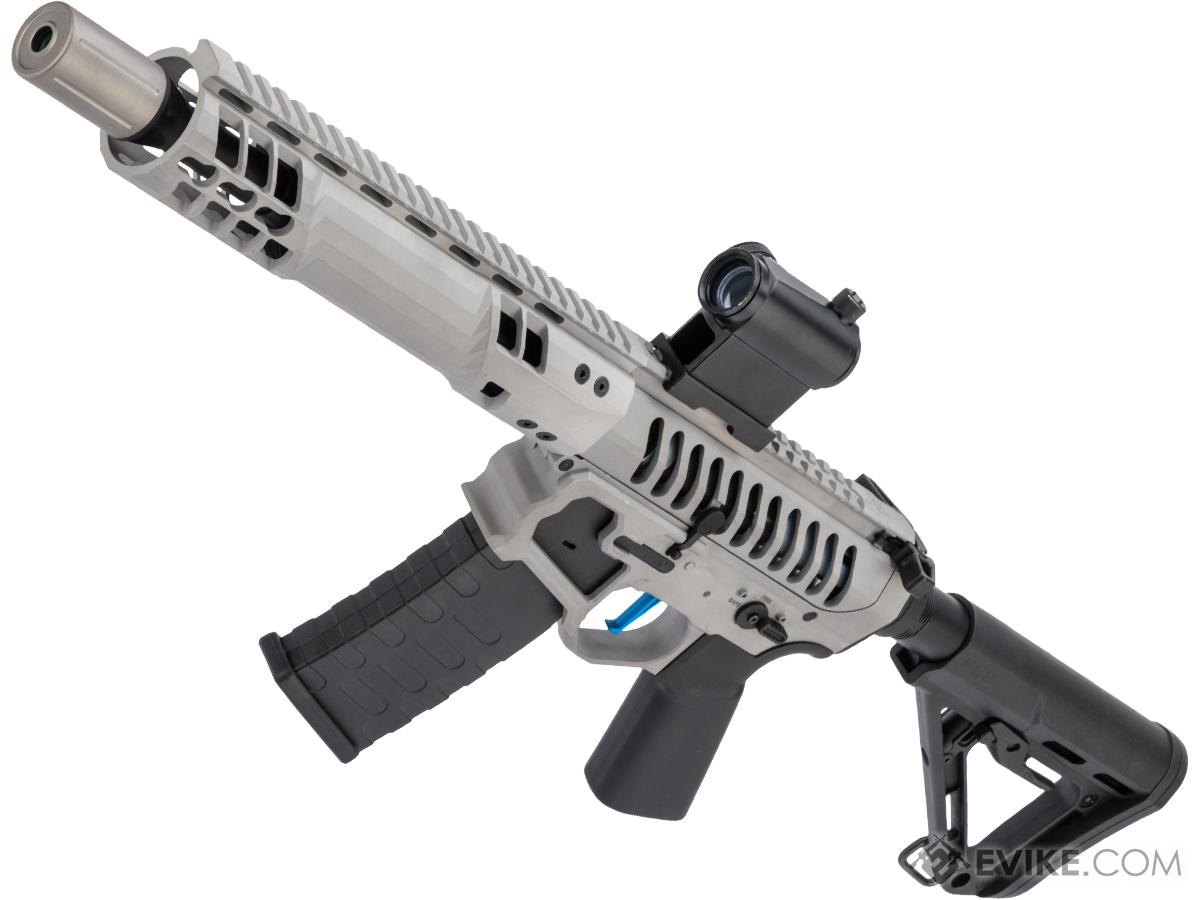Evike Performance Shop Custom EMG F-1 Firearm SBR Airsoft AEG Rifle (Color: Raw Aluminum)