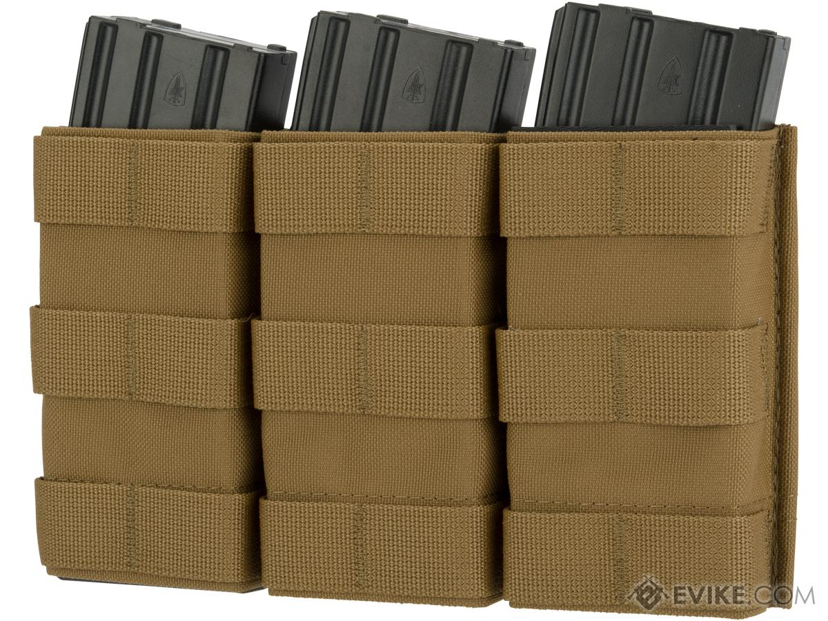 Esstac Triple Tall 5.56mm KYWI Magazine Pouch (Color: Coyote)