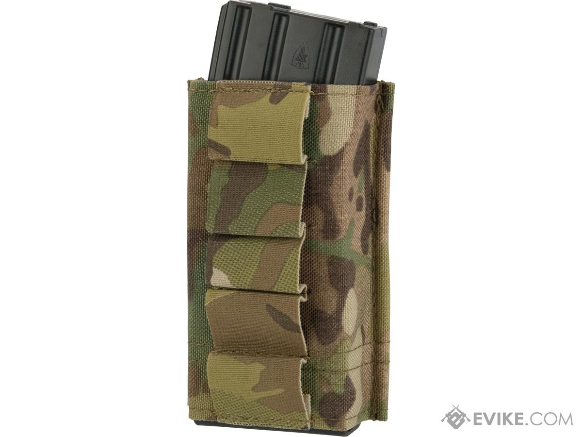 Esstac Single Tall 5.56mm KYWI Magazine Pouch with Shotgun Shell Loops (Color: Multicam)