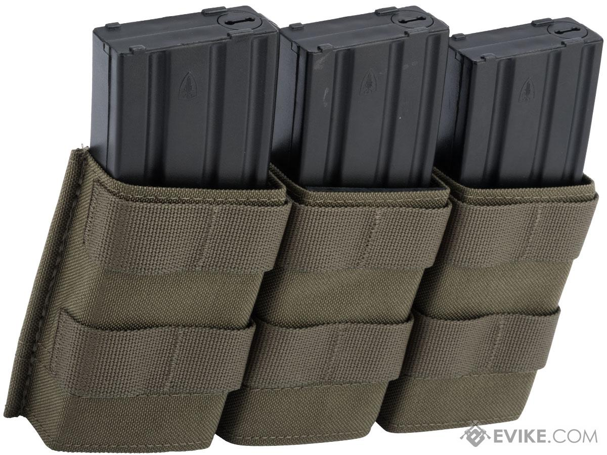 Esstac Triple Midlength 5.56mm KYWI Magazine Pouch (Color: Ranger Green)