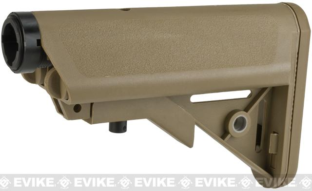 G&P Crane Type Stock and Buffer Tube Set for M4 / M16 Series Airsoft AEGs (Color: Dark Earth)
