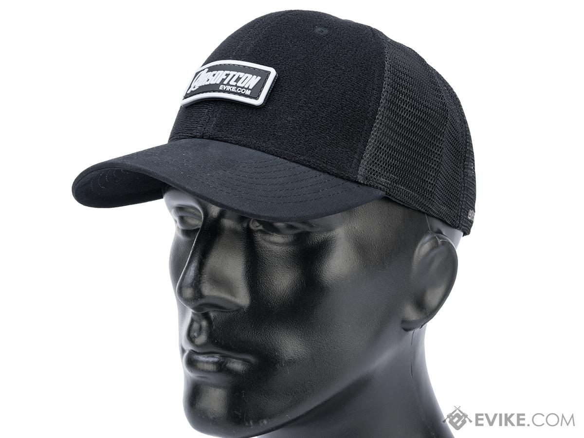 Evike.com Patch Panel Mesh Adjustable Tactical Ball Cap (Color: Black)