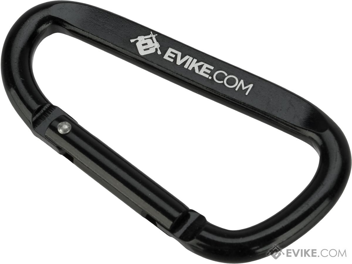 Evike.com Licensed QD Tactical Metal Carabiner Type Keychain (Color: Black)
